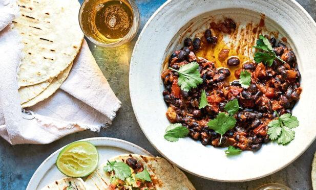 Linda McCartney's black bean tacos.