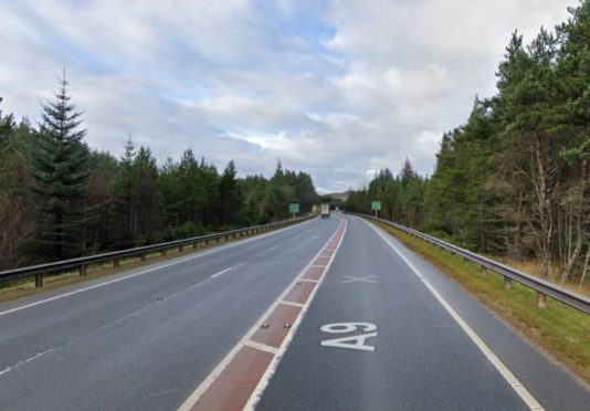 Police were called to a two-vehicle crash on the A9 at around 8.45am.