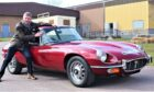 Andrew with the Jaguar e-type V12.