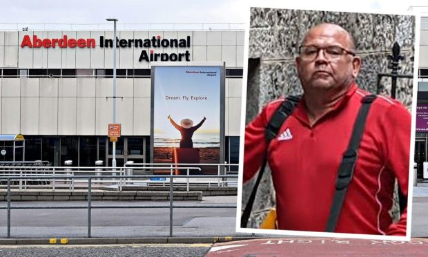 Karl Poundall was arrested at Aberdeen International Airport.