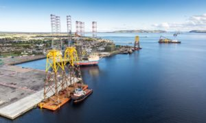 The port at Invergordon and the Cromarty Firth.