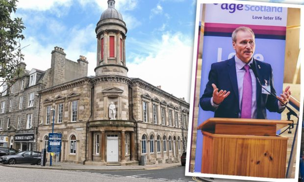 """Aberdeenshire Council is """"phasing out"""" cash payments for rent and other services."""