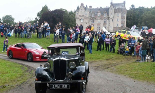 Royal Deeside Motor Show at Kincardine Castle.