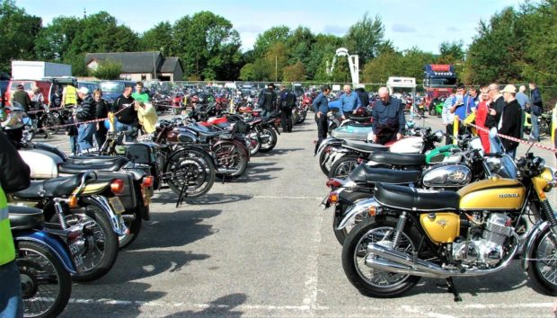 Motorcycle enthusiasts gather at Grampian Transport Museum.