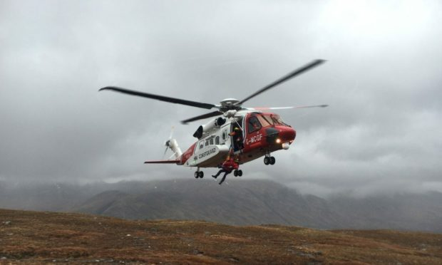 Members of Inverness and Dornoch coastguard rescue teams were called to the Golspie area to assist paramedics alongside the coastguard helicopter from Inverness.