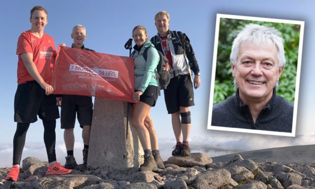 Iain Landsman, Eric Harper, Liz Bowie and Mark Wilson walked 40 miles in a day in aid of the fund to honour Duncan Skinner..