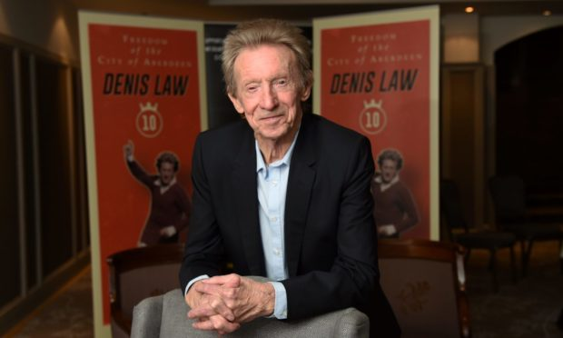Denis Law in 2017, ahead of being awarded the Freedom Of Aberdeen.