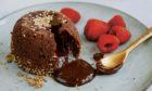 Miso chocolate fondant.