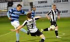 Banks o' Dee's Jack Henderson, left, tries a shot as Fraserburgh's Jamie Beagrie attempts to block