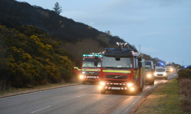 Emergency services were called to an incident near Portsoy at around 10.55am yesterday.