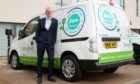Springfield Properties chief executive, Innes Smith, with the company's first electric van.