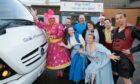 Panto performers at Raigmore Hospital
