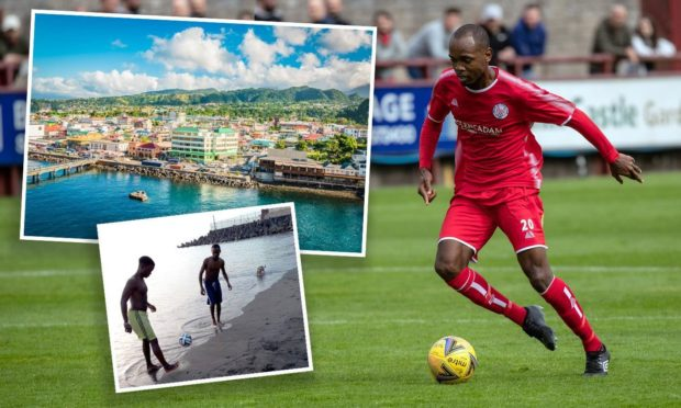 Julian Wade has left the Caribbean sunshine island of Dominica to sign for Brechin City