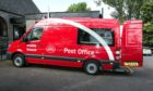 The mobile post office visits several rural locations.