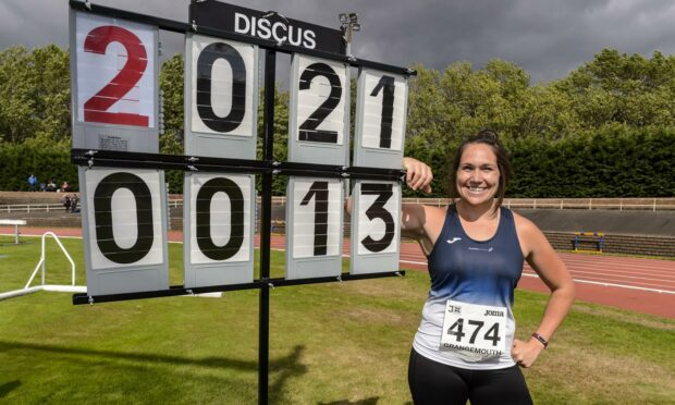 Kirsty Law celebrates her 13th Scottish title.