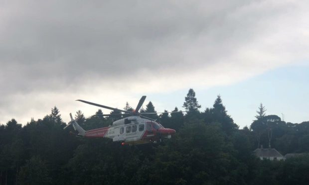 Emergency services are dealing with an incident involving a quad bike at Kyleakin.