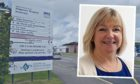 Raigmore in Inverness and NHS Highland chief executive Pamela Dudek.
