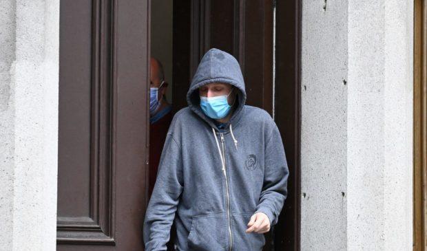 James Grieve leaving Aberdeen Sheriff Court.