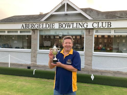Adrian with his trophy in part one of a very good day