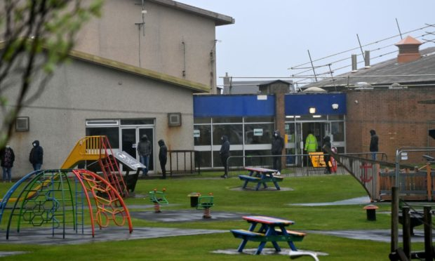Stonehaven Leisure Centre, which is currently being used as a vaccine centre, could be refurbished under the new plans.