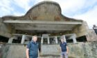 Stephen (left) and David Whiteford want to turn the North Sutor battery into a tourist attraction. Picture by Sandy McCook