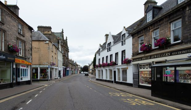 The high street in Forres. Picture by Jason Hedges