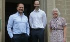 Mr Allan, centre, with Karen Scholes and Ivan Houston.