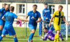 James McShane, centre, is hoping Strathspey Thistle can defeat Rothes in the North of Scotland Cup