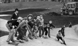 These Aberdeen children had a pre-opening look at the new skateboard rink built at Heathryfold in 1978.