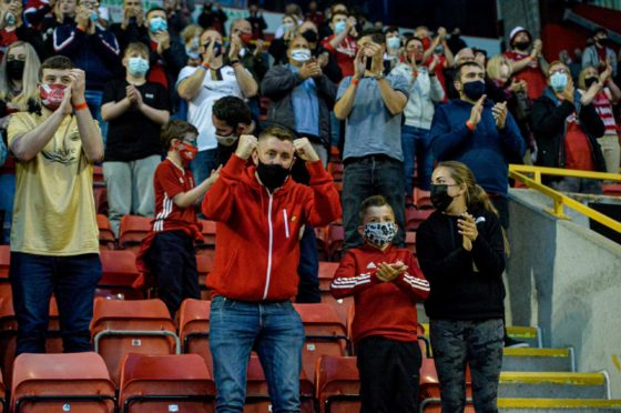 Limited numbers of fans have already returned to Pittodrie for the opening games of the season.