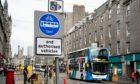 The bus gate on Union Street in Aberdeen.