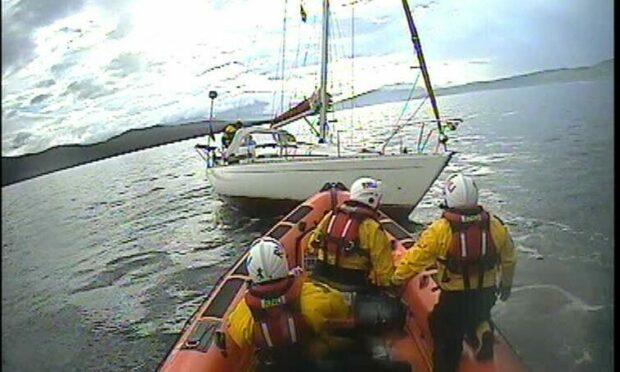 The yacht ran aground on rocks near Skye. Photo: Kyle RNLI