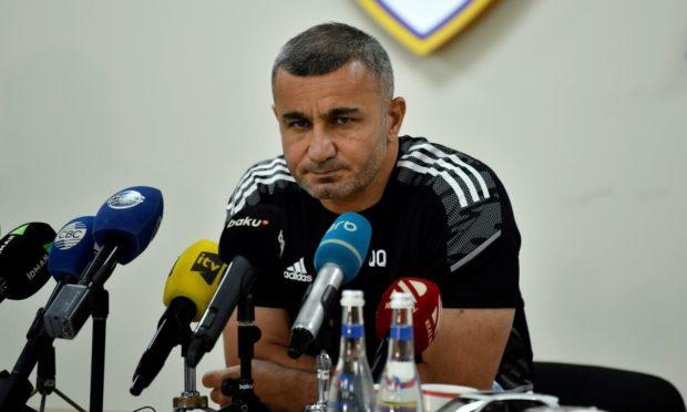 Qarabag manager Gurban Gurbanov.