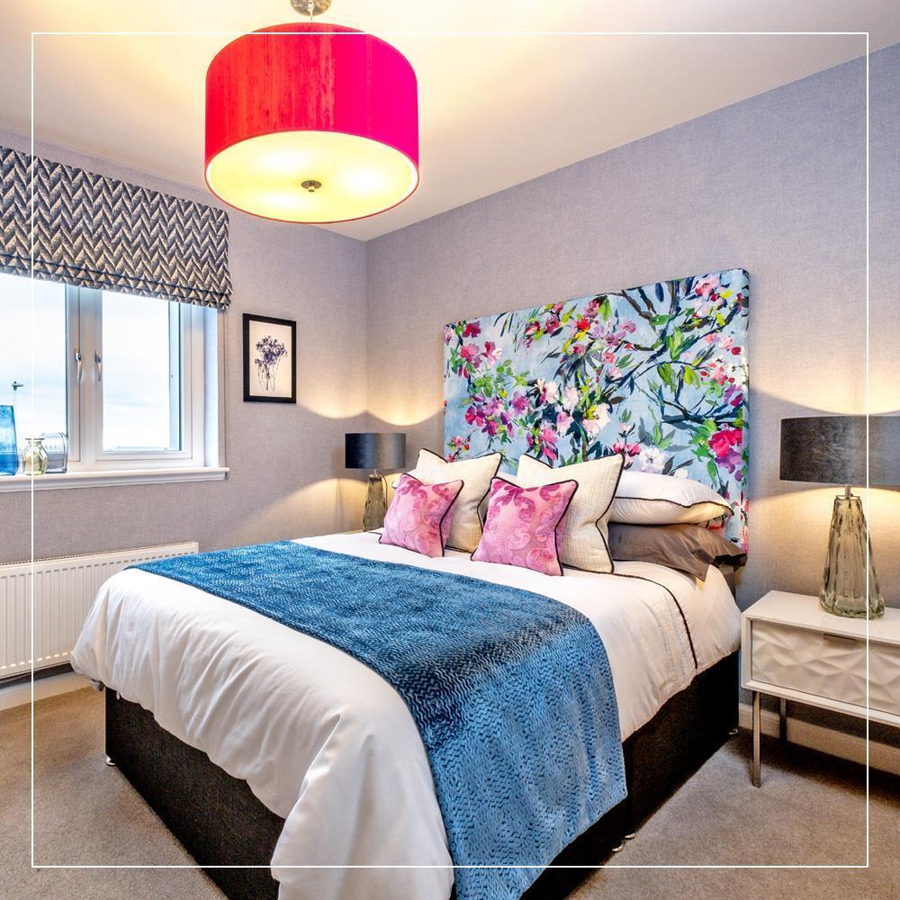 Bedroom in new build apartments in Aberdeen