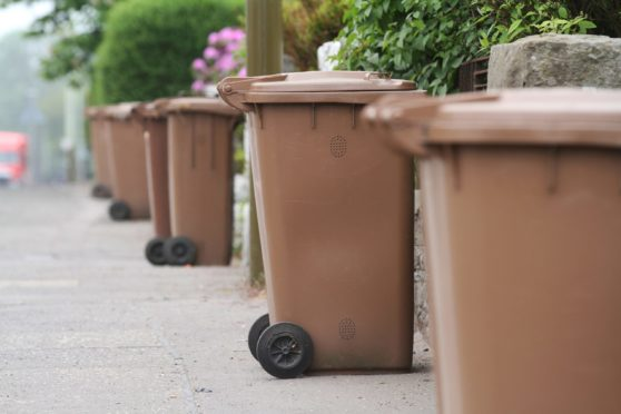 Some people were unable to renew their brown bin permits due to a technology issue. Picture by Mhairi Edwards