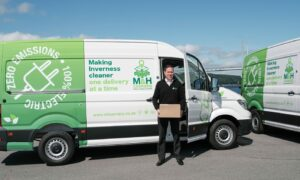 Fraser MacLean with one of the new vans.