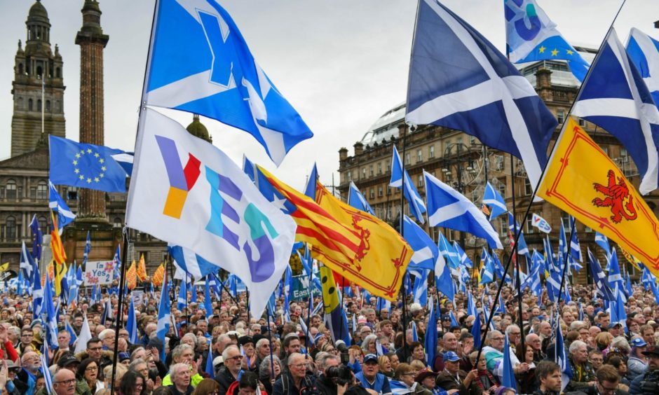 """Alister Jack said support for having a referendum would have to be at 60% for a """"reasonably long period""""."""