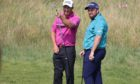 Ryder Cup captain Padraig Harrington, with potential qualifier Shane Lowry.