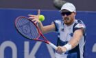Jamie Murray playing for Great Britain at the Tokyo Olympics.