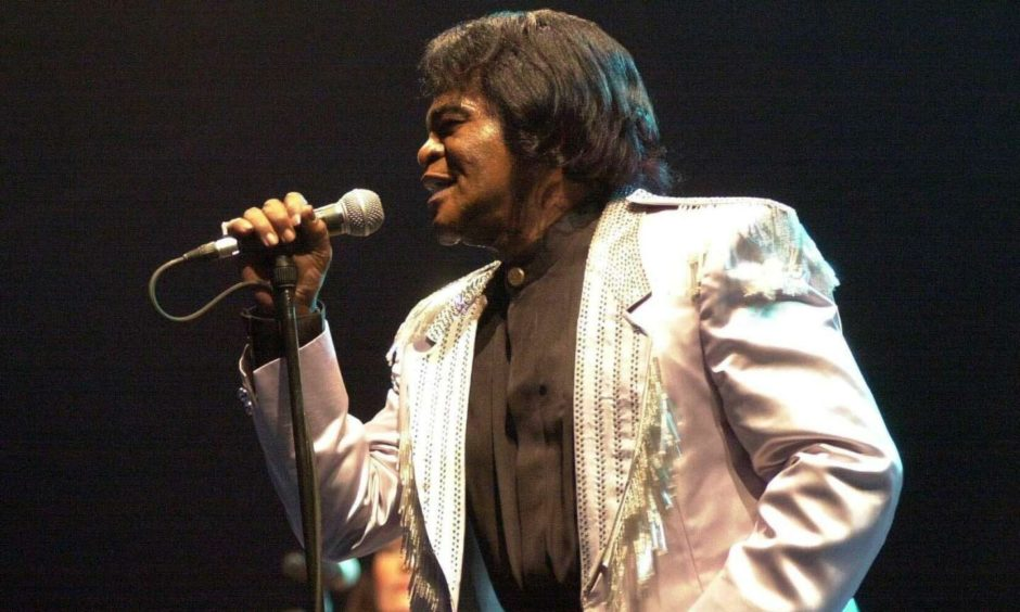 James Brown performed at Crathes Castle at Live on the Lawn in 2001.