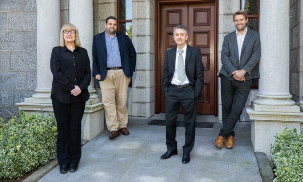 L-R Marichen Meyer, William Robertson, Colin Bremner & James Herbertson Burnett & Reid partners.