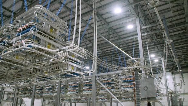 HVDC reactor hall as part of the Caithness-Moray transmission link.