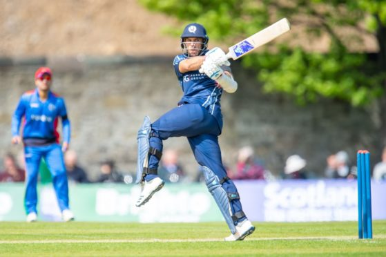 Kyle Coetzer in action for Scotland against Afghanistan in 2019.