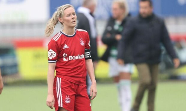 Loren Campbell captained the Dons against Celtic