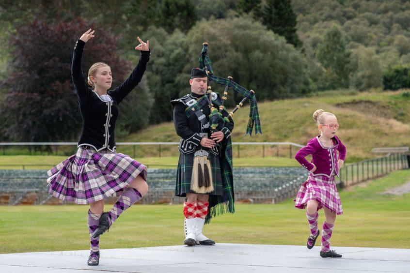 Braemar , Scotland, Braemar Gathering Alternative.Performance by the Vivien McIntosh Highland Dance SchoolPicture by Michal Wachucik/Abermedia