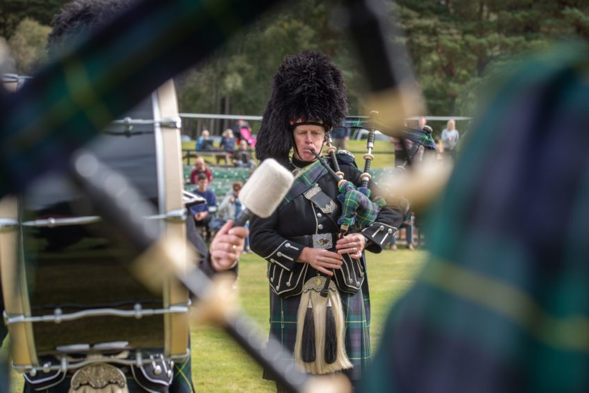 Pipers thrilled the crowds at the Braemar Gathering Alternative. Photos: Michal Wachucik/Abermedia