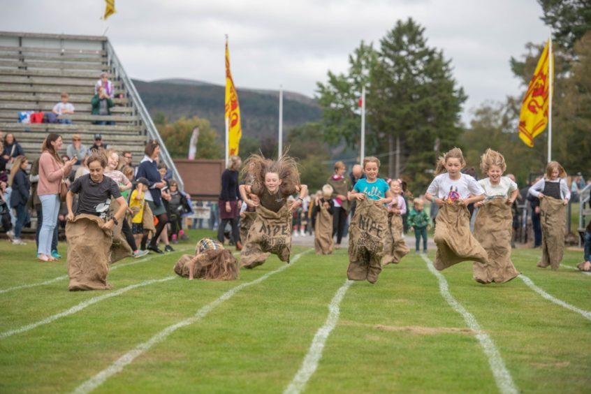 Sack races proved popular with children. Photo:  Michal Wachucik/Abermedia