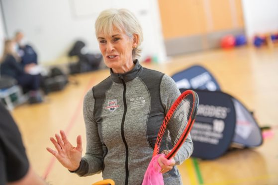 Judy Murray at Mile End School in Aberdeen.