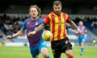 Caley Thistle winger Tom Walsh, left, in action against Partick Thistle full-back Richard Foster in ICT's 3-1 home win in September.