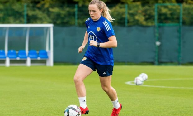 Erin Cuthbert scored Scotland's first goal of the game